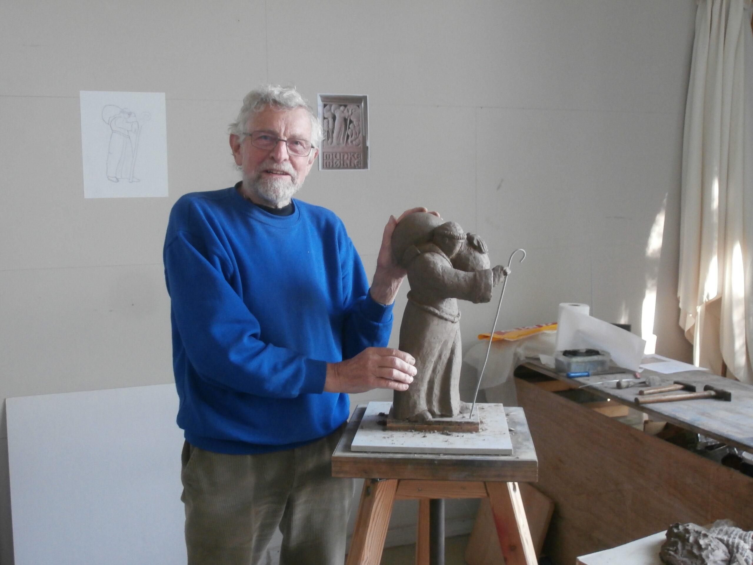 model af munkeskulptur til Munkemølle 2017