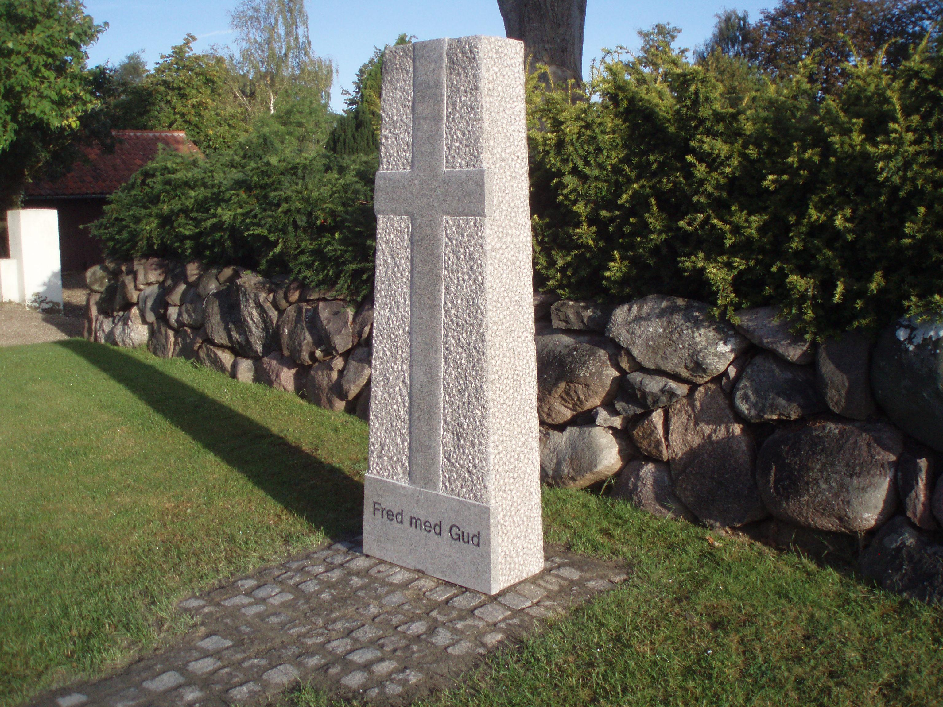 Stele ved Sandager kirke
